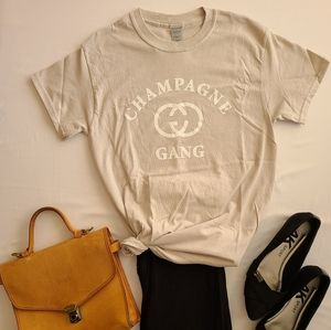 Champagne 🍾 Gang Graphic Tee -NEW
